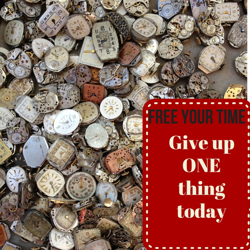 Give up ONE thing today
